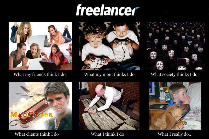 Contest Entry #46 for Graphic Design for What a Freelancer does!