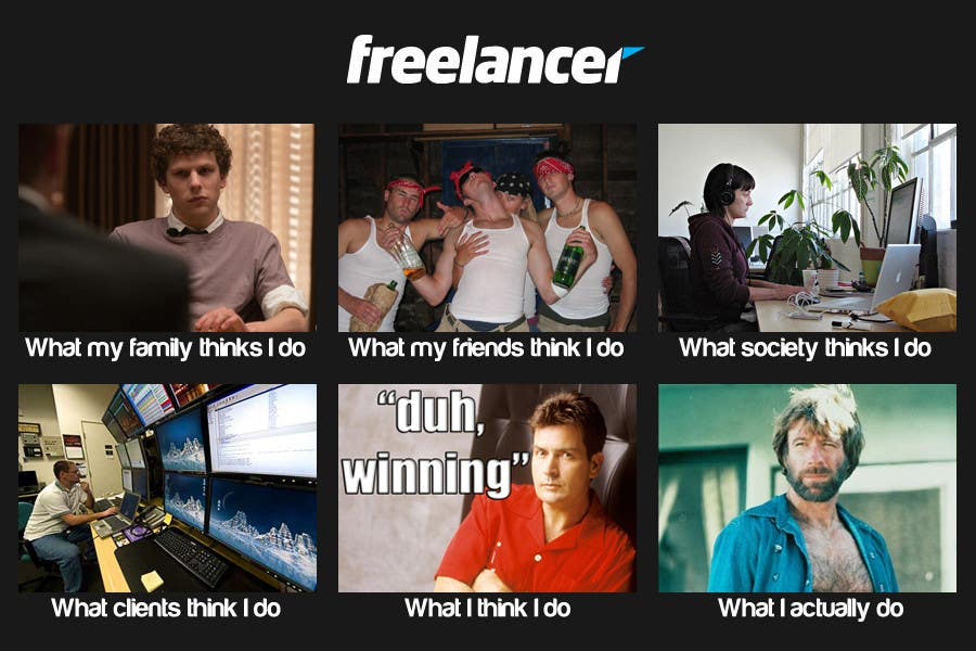 Конкурсная заявка №135 для Graphic Design for What a Freelancer does!