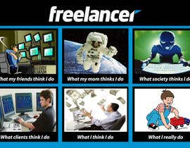 #22 para Graphic Design for What a Freelancer does! por crazymaster