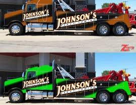 Nro 9 kilpailuun Tow Truck Wrap Design käyttäjältä marcelorock