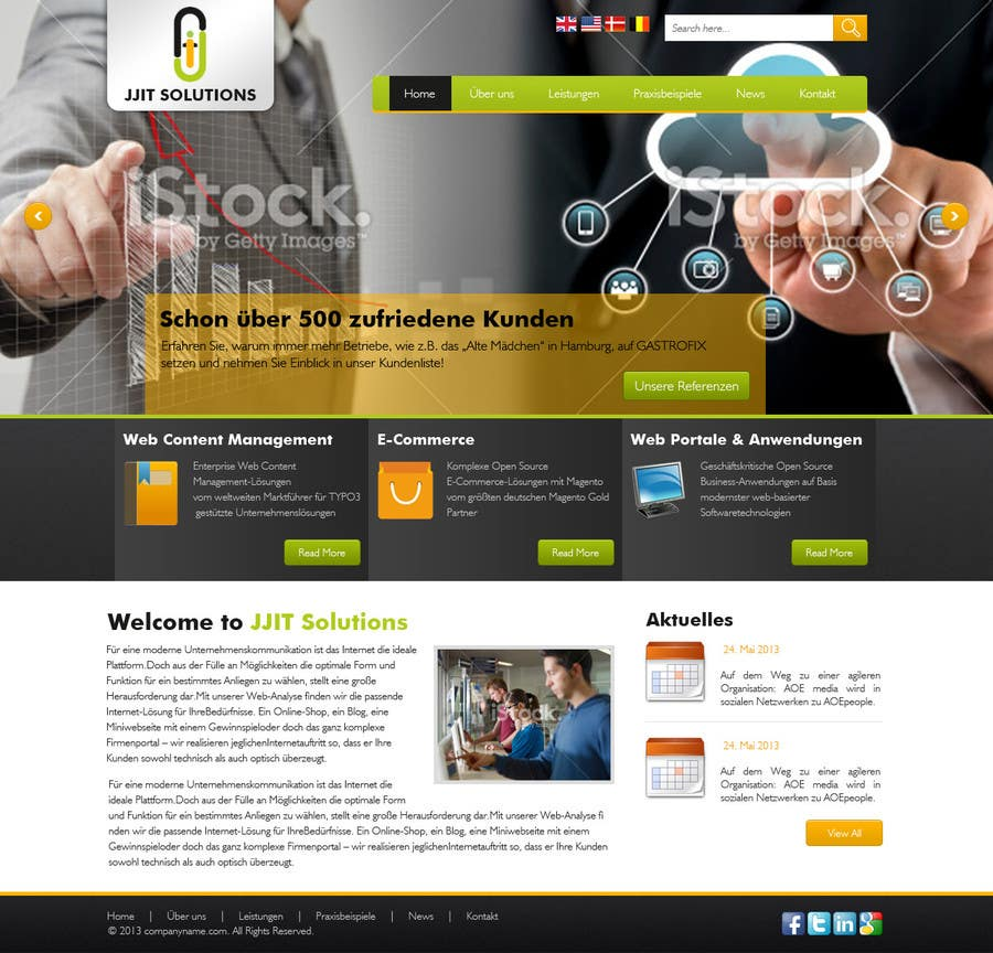 Bài tham dự cuộc thi #5 cho Design a Website Mockup for IT Company