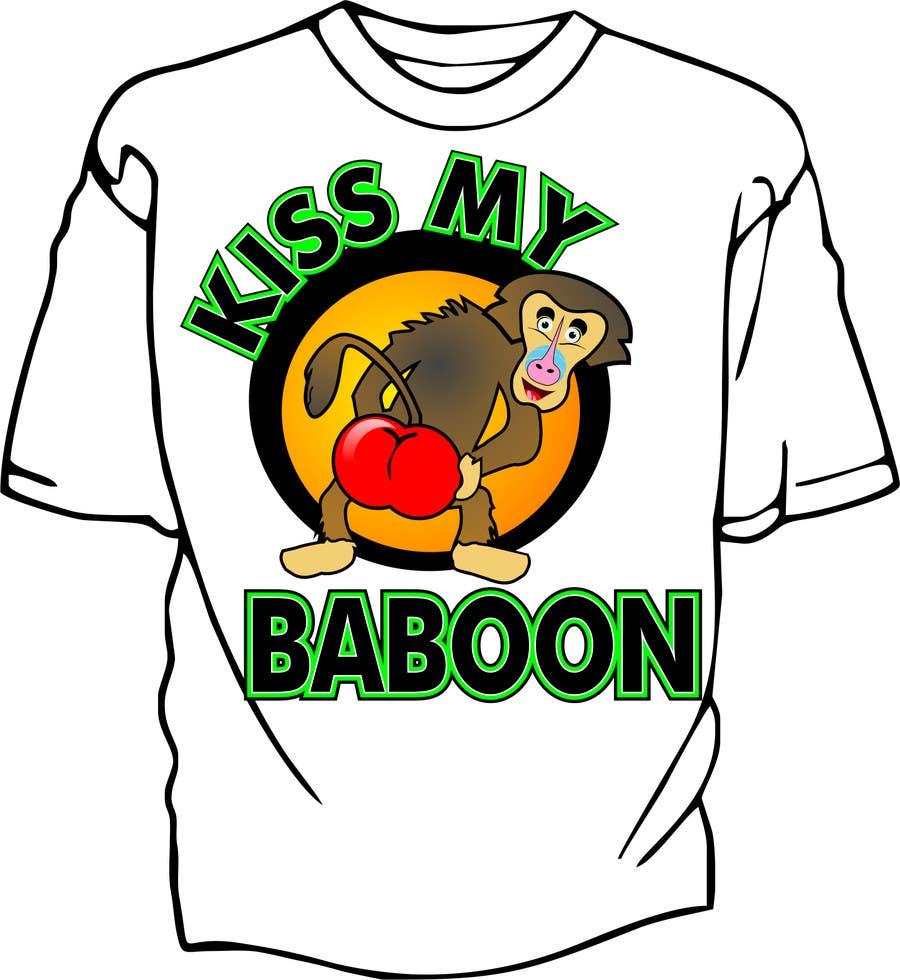 Bài tham dự cuộc thi #5 cho Design a T-Shirt with a funny monkey theme.