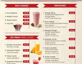 Nro 19 kilpailuun Design a Menu for a juice bar and fast food käyttäjältä glazaropoulos