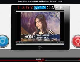 #19 untuk Design a Website Mockup for domain Ladyboygame.com oleh era67