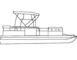 #1 for 4 Sided Sketch of a Generic Pontoon Boat af seangerman