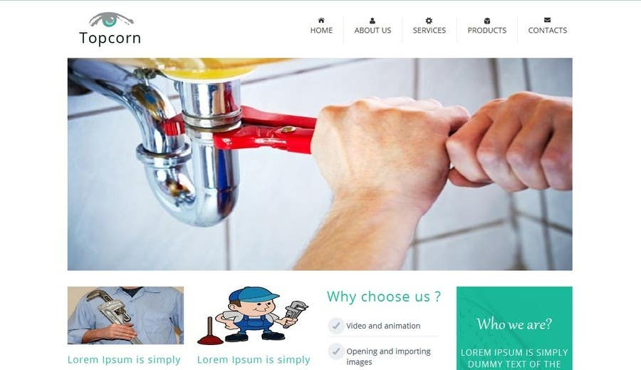 Proposition n°3 du concours Build a Website for a plumber