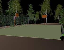 major07 tarafından 3D Model a Grass turf basketball court için no 3
