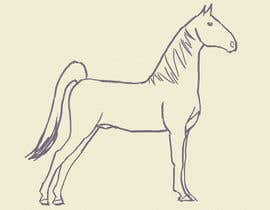 nº 16 pour Hand-drawn sketch of horse in AI format par ReiezJ