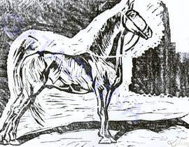 nº 19 pour Hand-drawn sketch of horse in AI format par kmkalczynska