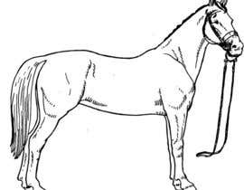 nº 9 pour Hand-drawn sketch of horse in AI format par ticktickboom