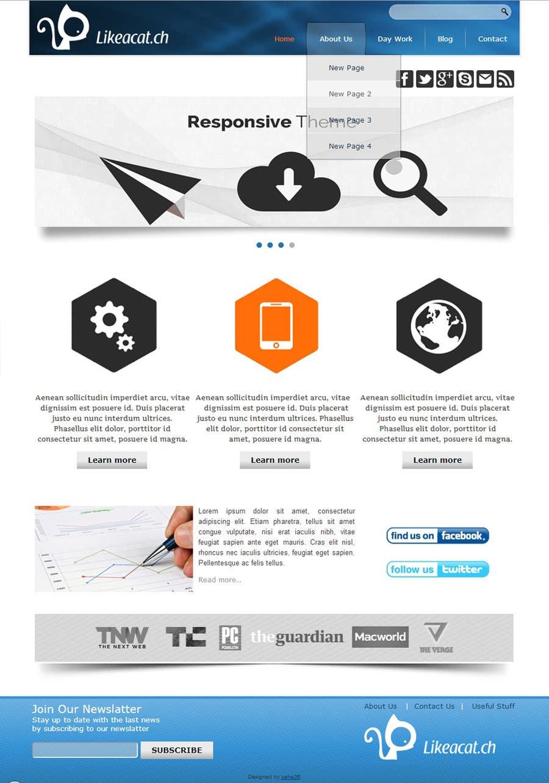 Penyertaan Peraduan #11 untuk Drupal Theme for a printing company