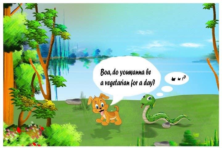 """Kilpailutyö #17 kilpailussa Illustrate something for """"Puppy and Boa"""""""
