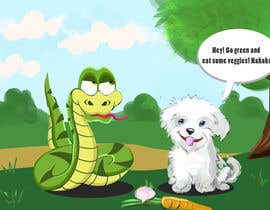 "#21 para Illustrate something for ""Puppy and Boa"" por nilaabh"