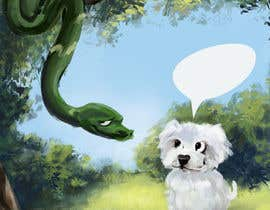 "#18 para Illustrate something for ""Puppy and Boa"" por AnastasiaN"