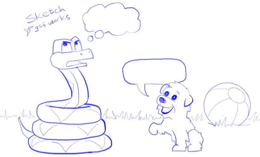 """Kilpailutyö #5 kilpailussa Illustrate something for """"Puppy and Boa"""""""
