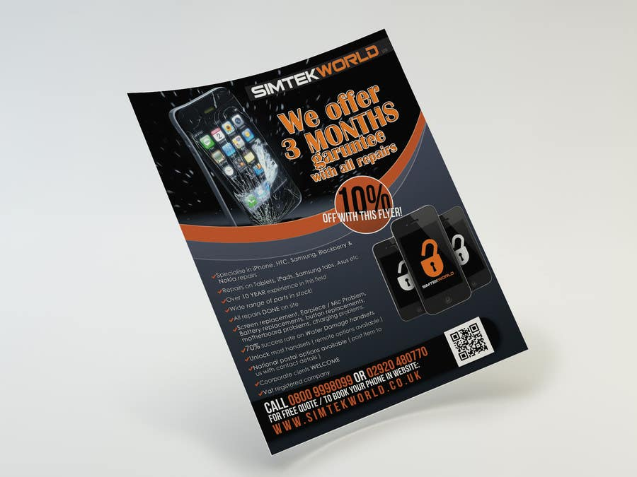#10 for Good Design a Flyer for SimTek World Ltd by copestiuc