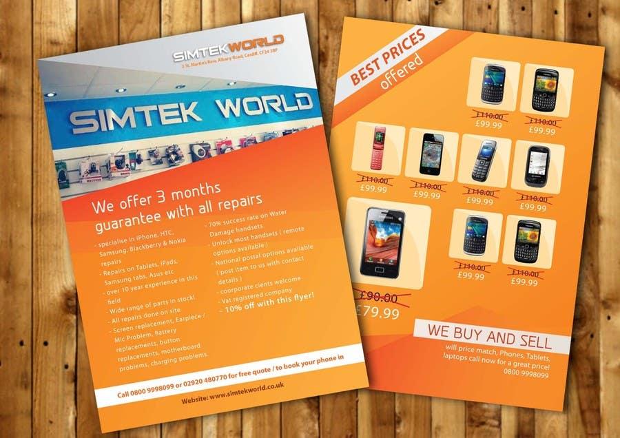 #4 for Good Design a Flyer for SimTek World Ltd by HerlinaTan