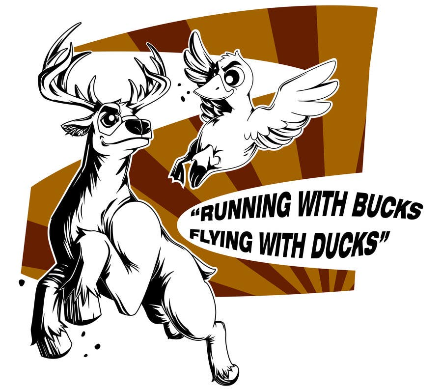 #32 for Design a deer and ducks t shirt Many more jobs to come this is a test to find our designer. Logo by satherghoees1