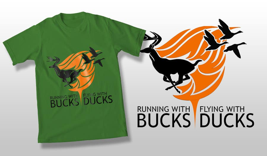 #39 for Design a deer and ducks t shirt Many more jobs to come this is a test to find our designer. Logo by theislanders