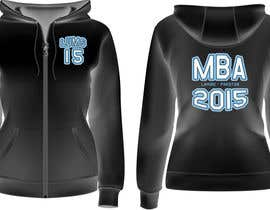 #25 para Design a Hoodie for MBA Class of 2015 por fabrirebo