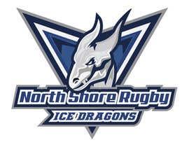 andrek33 tarafından Sports Logo for North Shore Rugby Ice Dragons için no 34