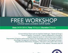 #3 untuk Design a Flyer for a Logistics Workshop oleh barinix