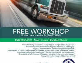 #24 untuk Design a Flyer for a Logistics Workshop oleh barinix