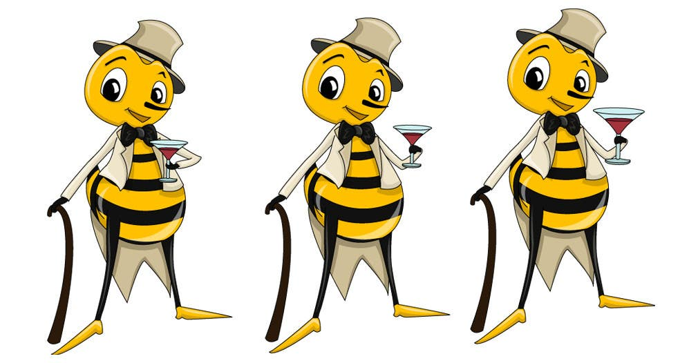#16 for I need a cartoon-style illustration of a Bee by swati14