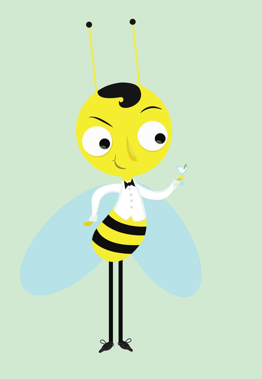 #15 for I need a cartoon-style illustration of a Bee by m86pixel