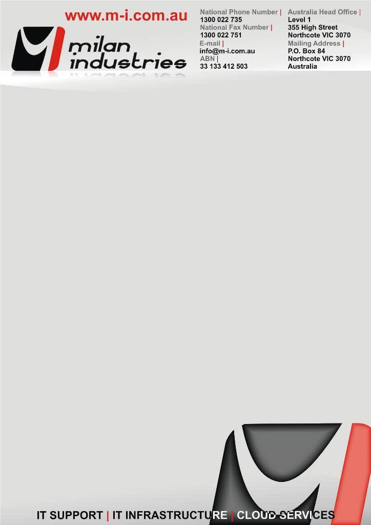 Penyertaan Peraduan #                                        25                                      untuk                                         Stationery Design for Milan Industries Pty Ltd