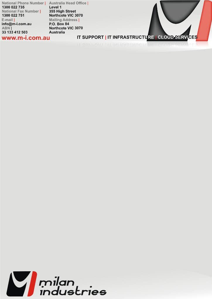 Penyertaan Peraduan #                                        27                                      untuk                                         Stationery Design for Milan Industries Pty Ltd