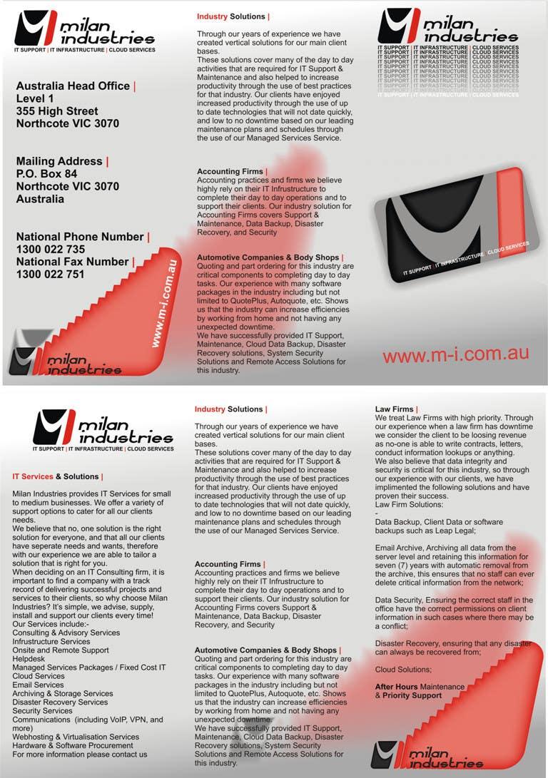 Penyertaan Peraduan #                                        4                                      untuk                                         Stationery Design for Milan Industries Pty Ltd