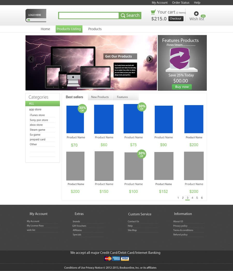 #4 for simple layout for an e-commerce second hand shop by rabinrai44