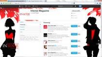 Graphic Design Kilpailutyö #33 kilpailuun Twitter Background for Intense Magazine