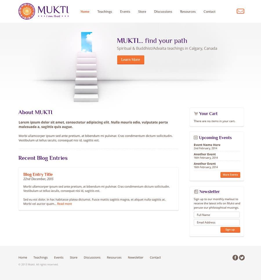 Bài tham dự cuộc thi #                                        4                                      cho                                         Design a Website Mockup for www.mukti.ca