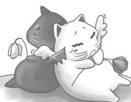 Nro 25 kilpailuun Illustrate Noir Blanc - the two little creatures -- 2 käyttäjältä Qion