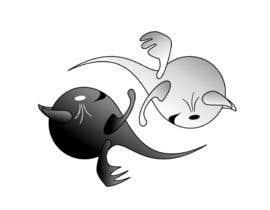 Nro 13 kilpailuun Illustrate Noir Blanc - the two little creatures -- 2 käyttäjältä alviolette