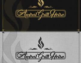 Nro 9 kilpailuun Design a Logo for Amiral Grill House käyttäjältä ELDJ7