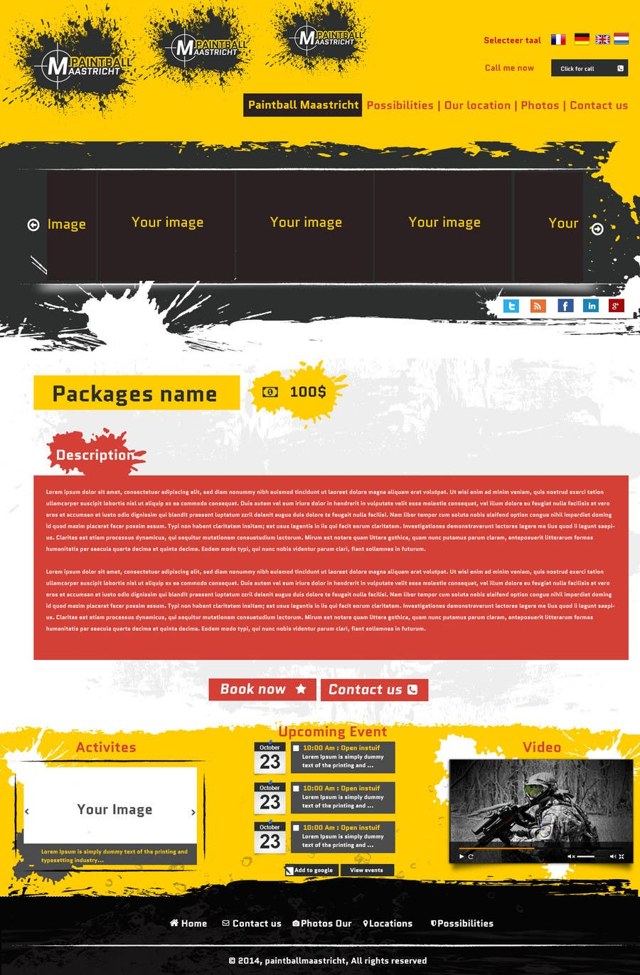 #35 for Build a Website for paintballmaastricht.nl (CMS+Design) by codeunderground