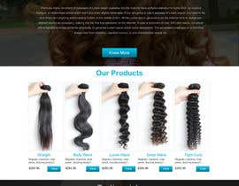 nº 4 pour Design a Website Mockup for Hair Extension business par webidea12