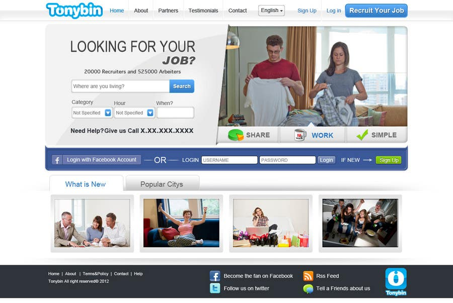 #108 for Website Design for Tonybin (simple and cool designs wanted) by kosmografic