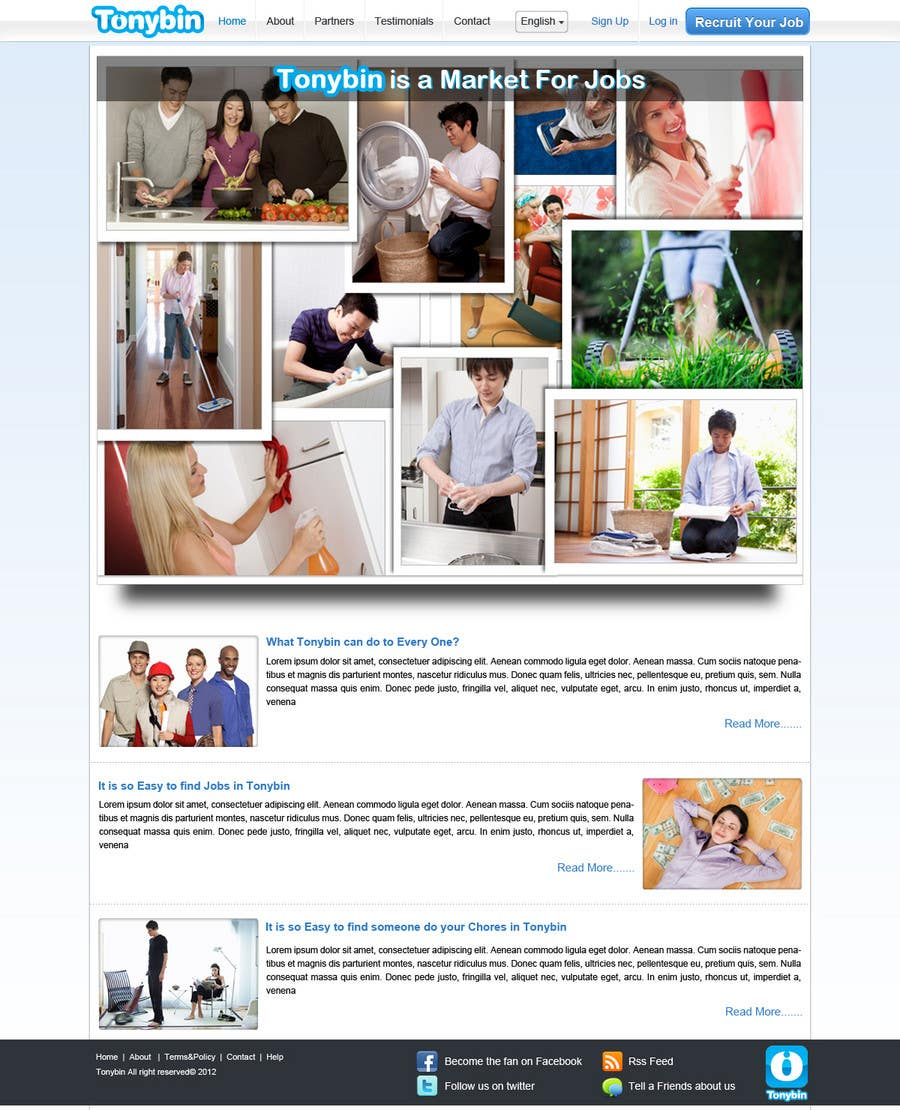 #166 for Website Design for Tonybin (simple and cool designs wanted) by kosmografic