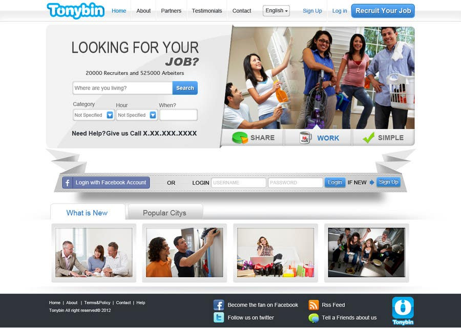 Proposition n°                                        132                                      du concours                                         Website Design for Tonybin (simple and cool designs wanted)