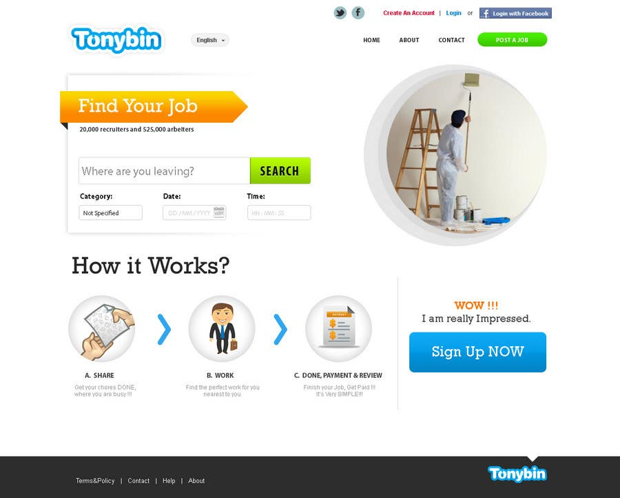 Proposition n°                                        118                                      du concours                                         Website Design for Tonybin (simple and cool designs wanted)