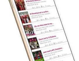 Nro 4 kilpailuun Design an App Mockup Football League app käyttäjältä thepro12345