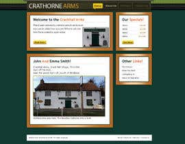 #5 para Design a Website Mockup for Local Pub por volitiontech