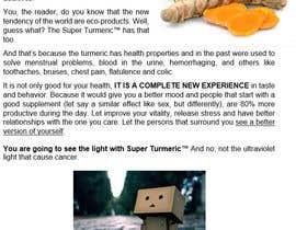 Yolento3000 tarafından Make Mailer Sales Piece for Turmeric Supplement - Winner gets chance at more work! için no 1