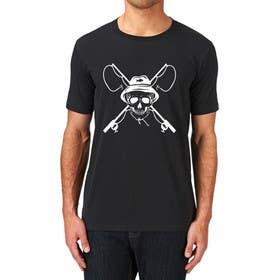 ozafebri tarafından Design a skull/fishing T-Shirt için no 10