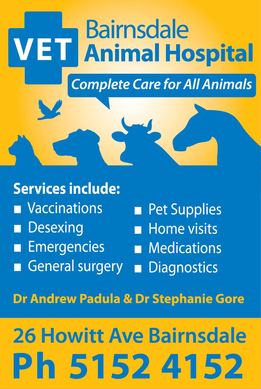 Contest Entry #32 for Graphic Design for Bairnsdale Animal Hospital