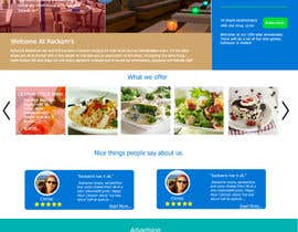 #19 for Web site mockup for restaurant and bar ( small site ) af beFreeStudio